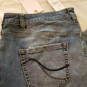 Remade crop jeans
